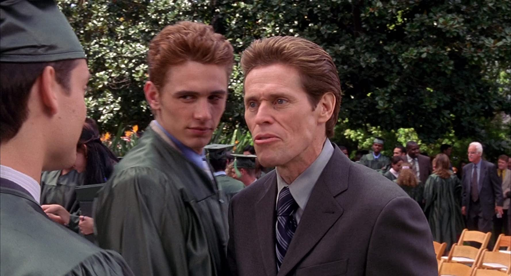 Willem Dafoe, Tobey Maguire, and James Franco in Spider-Man (2002)