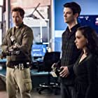 Tom Cavanagh, Danielle Nicolet, and Grant Gustin in Liberation (2020)