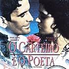 Maria Grazia Cucinotta and Philippe Noiret in Il postino (1994)