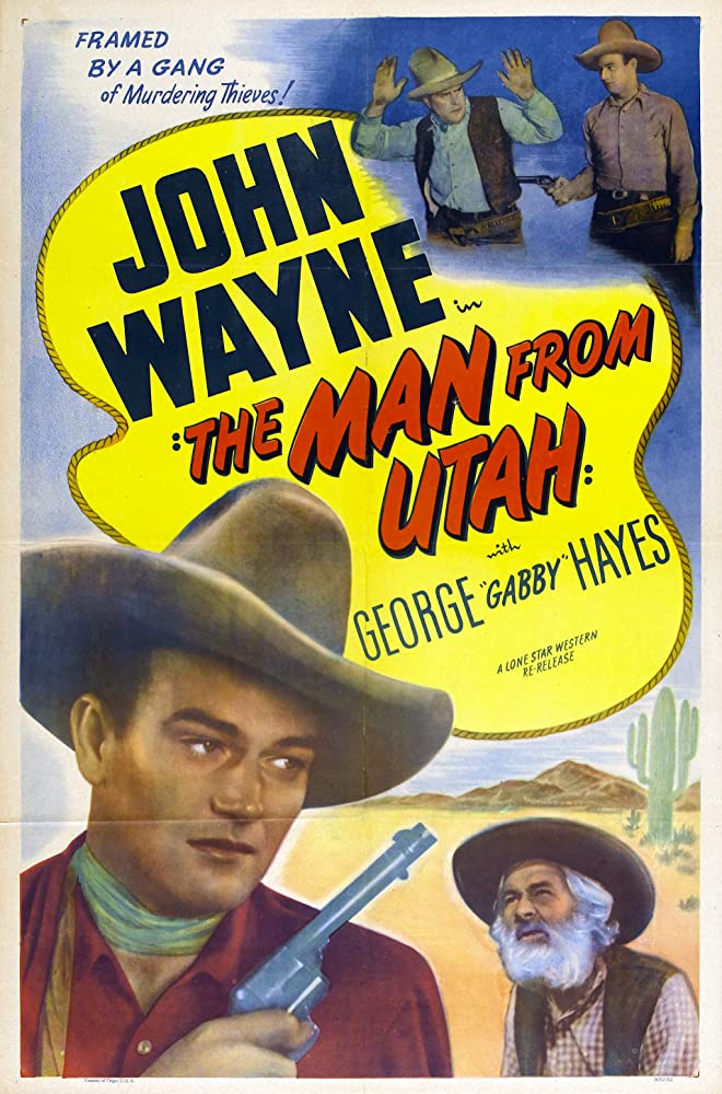 John Wayne and George 'Gabby' Hayes in The Man from Utah (1934)