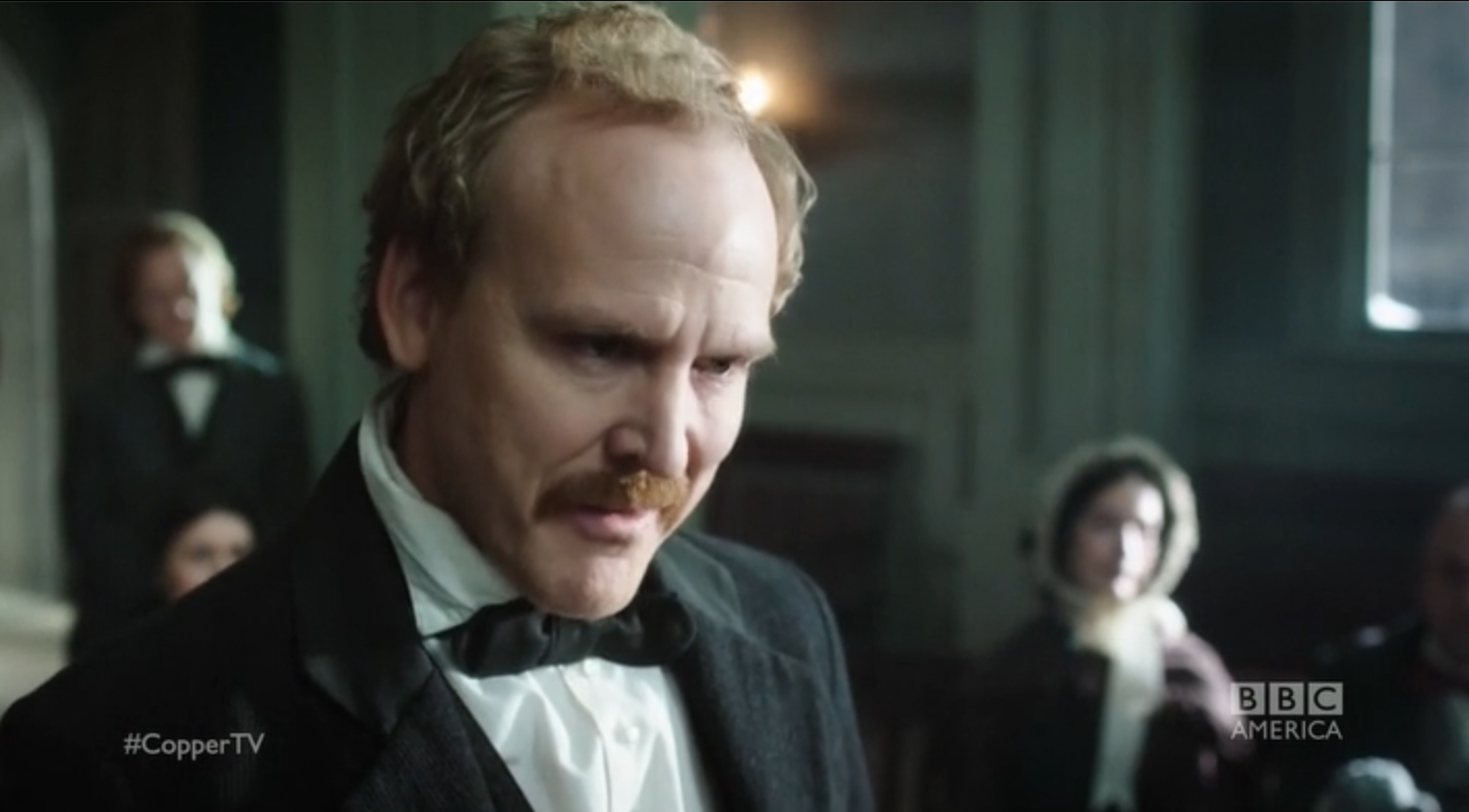 Michael Coady as the Assistant District Attorney in the BBC America series, Copper