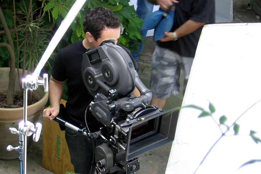 Aaron Proctor, director of photography, with 35mm ARRI