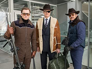 Colin Firth, Pedro Pascal, and Taron Egerton in Kingsman: The Golden Circle (2017)
