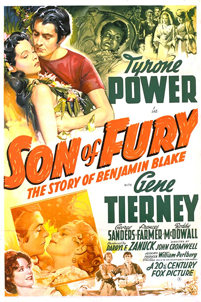 Tyrone Power, Gene Tierney, John Carradine, and Frances Farmer in Son of Fury: The Story of Benjamin Blake (1942)