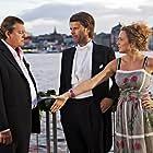 Dan Ekborg, Mirja Turestedt, and Peter Magnusson in Sommaren med Göran (2009)