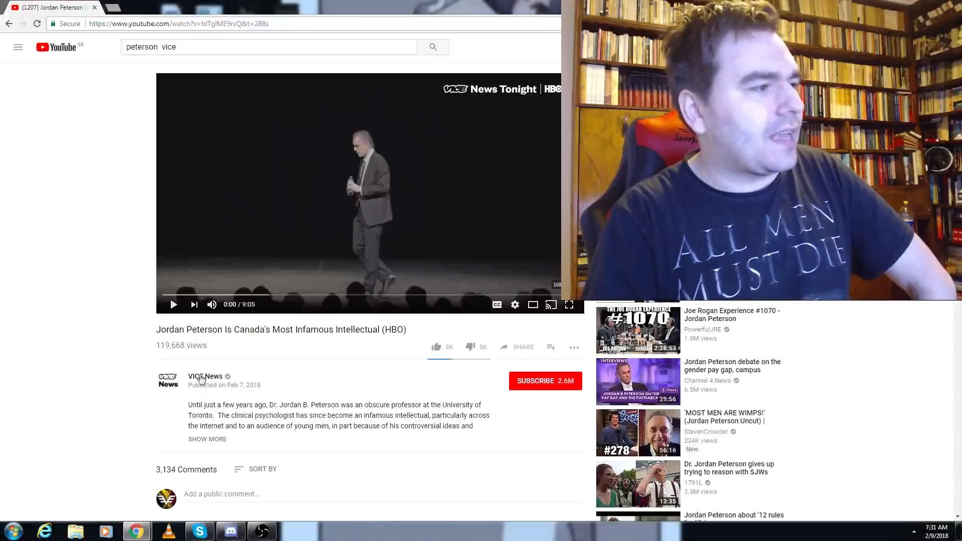detailed look 1d9e8 89a36 Vice Tries a Crack at Jordan Peterson (Video 2018) - IMDb