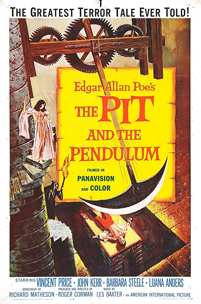 Vincent Price, John Kerr, and Barbara Steele in Pit and the Pendulum (1961)