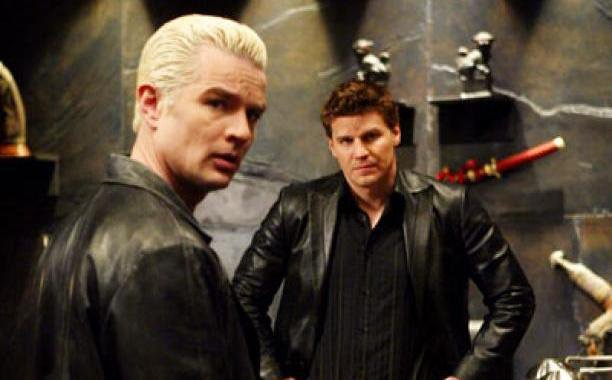 David Boreanaz and James Marsters in Angel (1999)