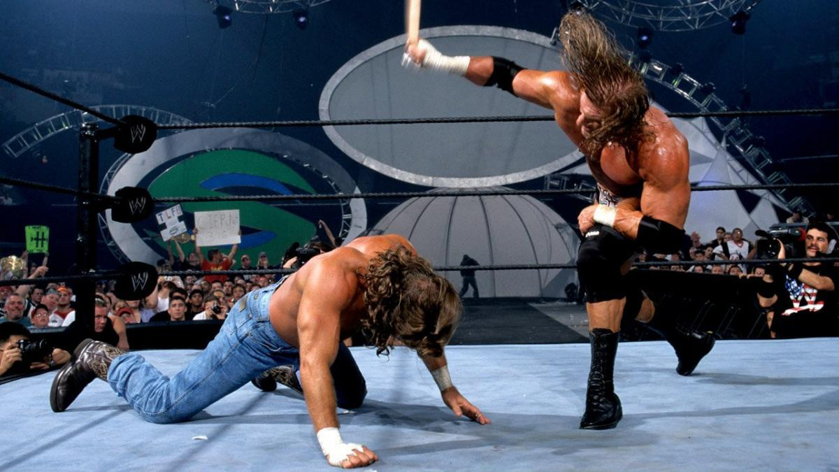 Shawn Michaels and Paul Levesque in Summerslam (2002)
