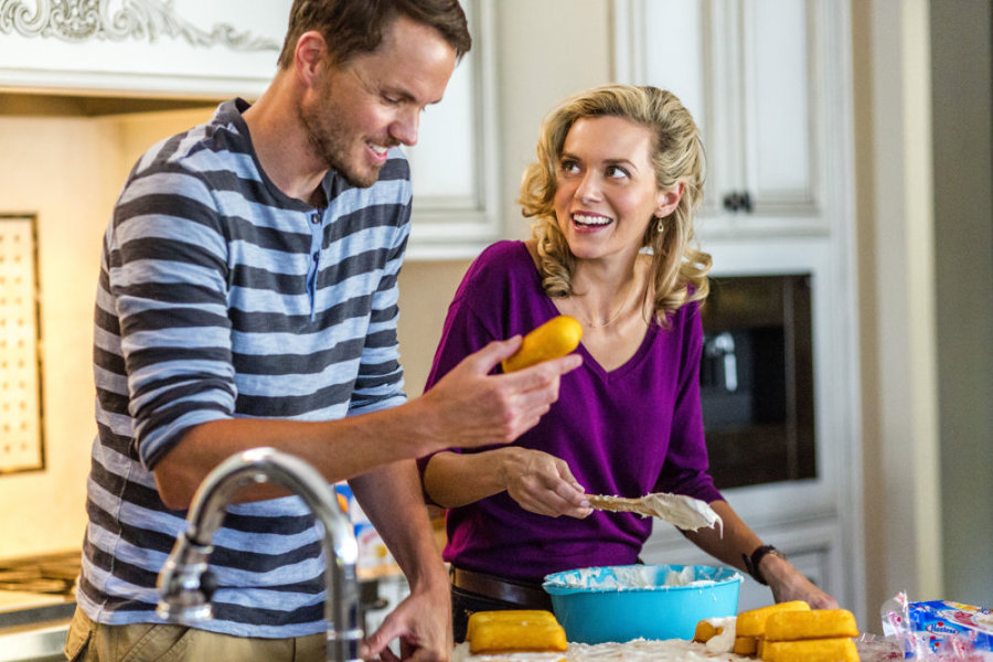 Hilarie Burton and Paul Campbell in Surprised by Love (2015)