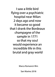 I Saw a Little Bird Flying Over a Psychiatric Hospital Near Milan 2 Days Ago and Now it Became So Good that I Drank the Bordeaux Champagne of the Sample in 1771 So That My Soul Would Experience an Incredible Life in This Brutal and Gray World (2018)
