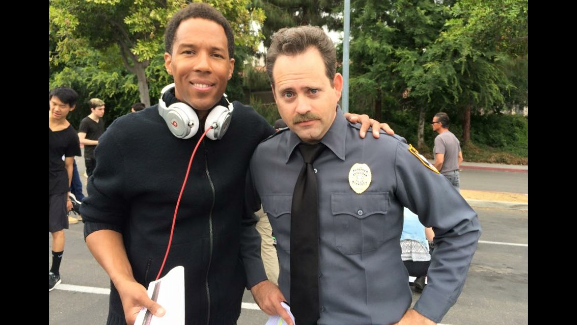 On the set of LONERS w/Director Eryc Tramonn