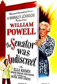 The Senator Was Indiscreet Poster