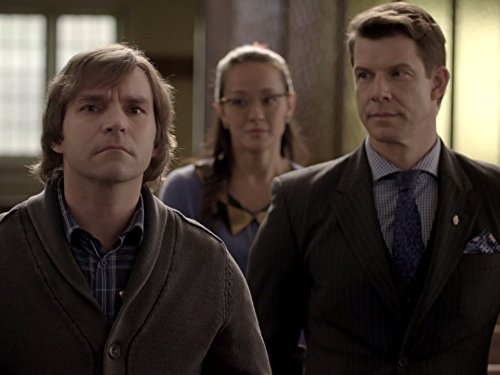 Yan-Kay Crystal Lowe, Eric Mabius, and Geoff Gustafson in Signed, Sealed, Delivered (2014)