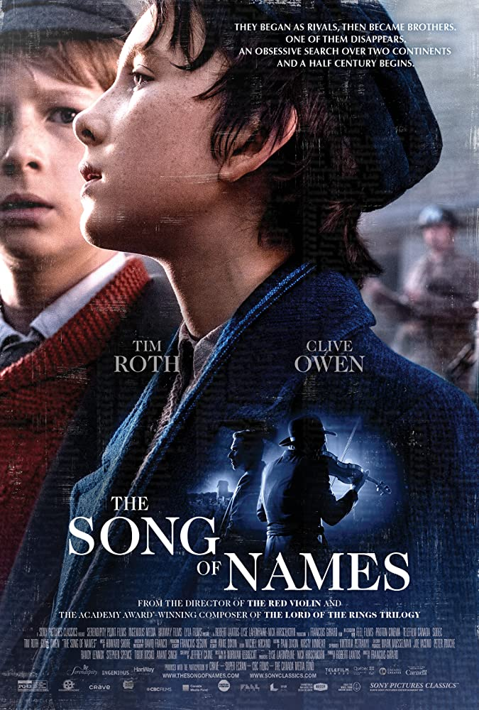 Poster film The Song of Names (2019)