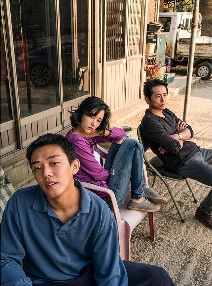 Ah-in Yoo, Steven Yeun, and Jong-seo Jun in Beoning (2018)