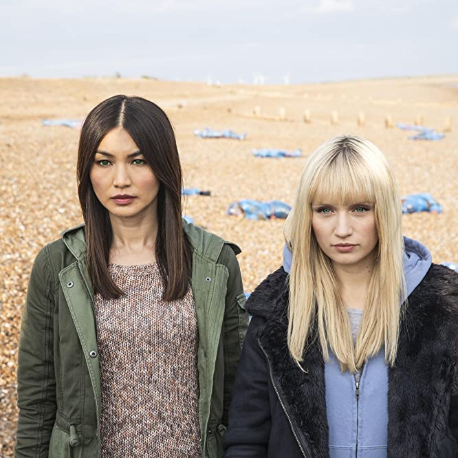 Gemma Chan and Emily Berrington in Humans (2015)