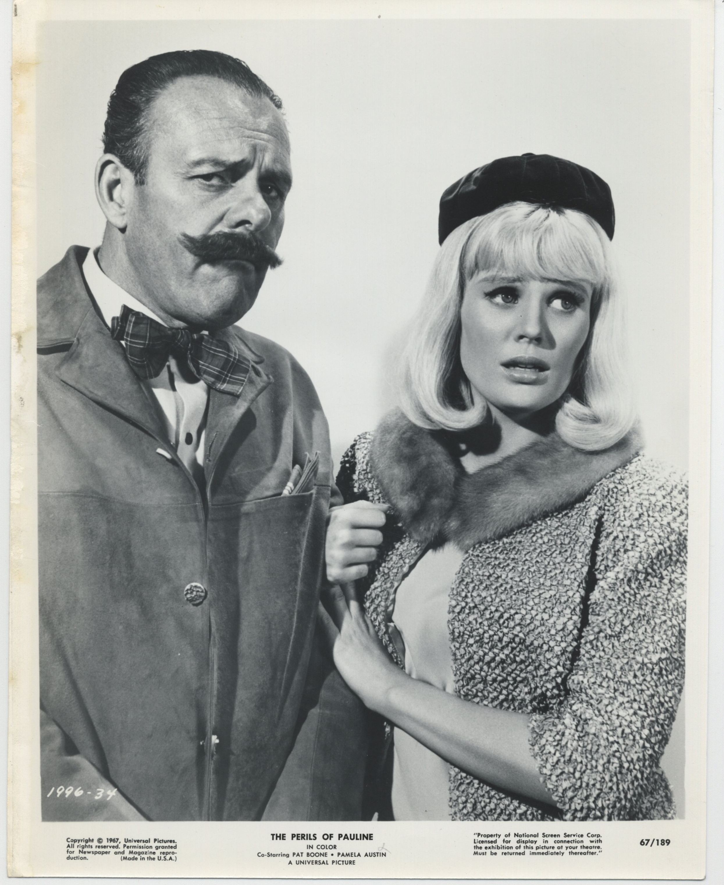 Pamela Austin and Terry-Thomas in The Perils of Pauline (1967)