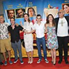 Shai Avivi, Jonathan Cherchi, Dror Shaul, Mali Levi, Zohar Strauss, Yossi Marshek, Michelle Treves, and Idan Carmeli at an event for Atomic Falafel (2015)