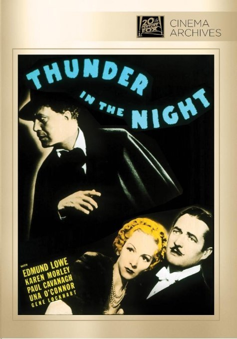 Paul Cavanagh, Edmund Lowe, and Karen Morley in Thunder in the Night (1935)