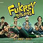 Ali Fazal, Richa Chadha, Manjot Singh, Pulkit Samrat, and Varun Sharma in Fukrey Returns (2017)