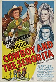 Roy Rogers, Dale Evans, Mary Lee, and Trigger in Cowboy and the Senorita (1944)
