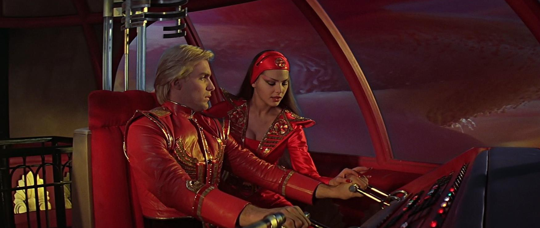 Ornella Muti and Sam J. Jones in Flash Gordon (1980)