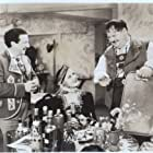 Oliver Hardy, Grete Natzler, and Ludovico Tomarchio in Swiss Miss (1938)