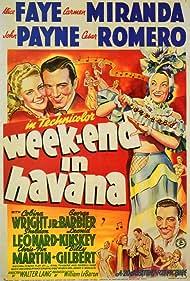 Carmen Miranda, Cesar Romero, Alice Faye, John Payne, and Cobina Wright in Week-End in Havana (1941)