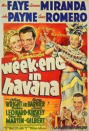 Week-End in Havana Poster