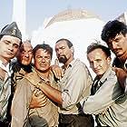 Diego Abatantuono, Gigio Alberti, Claudio Bigagli, Claudio Bisio, Giuseppe Cederna, and Ugo Conti in Mediterraneo (1991)