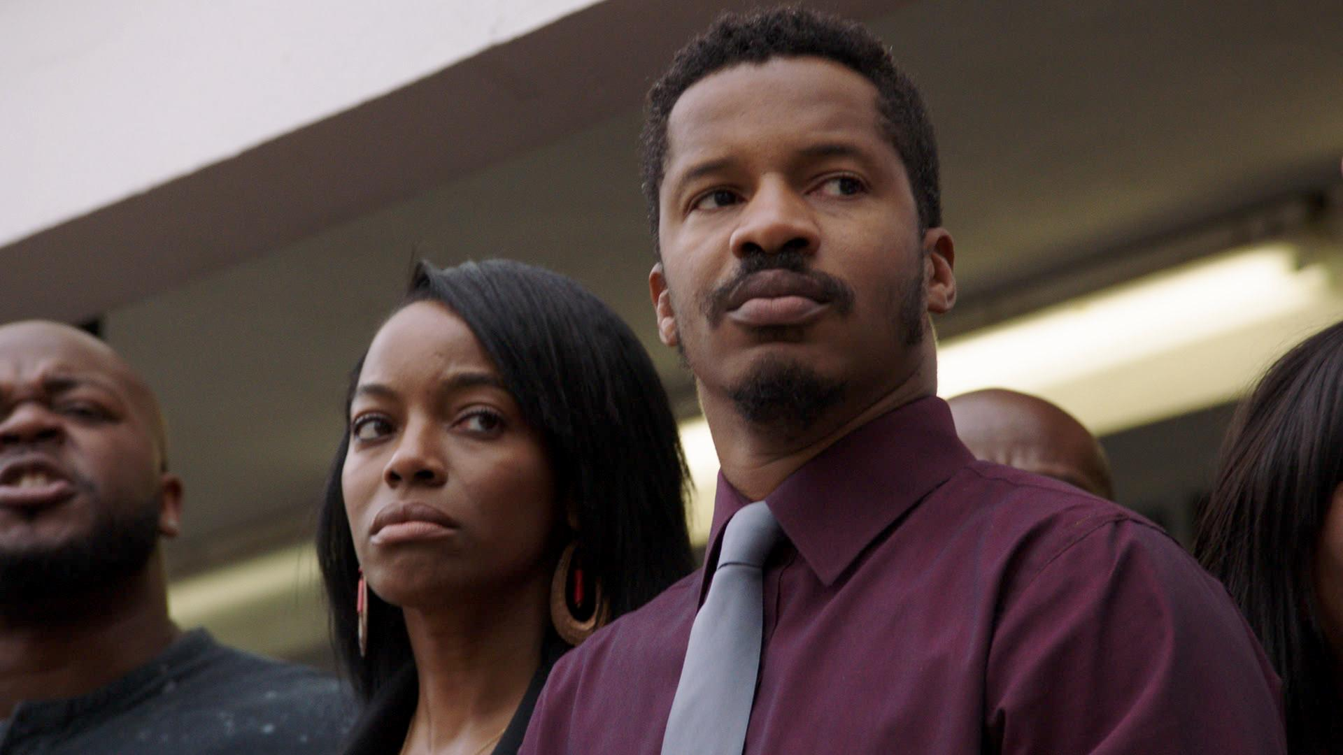 Milauna Jackson and Nate Parker in American Skin (2019)