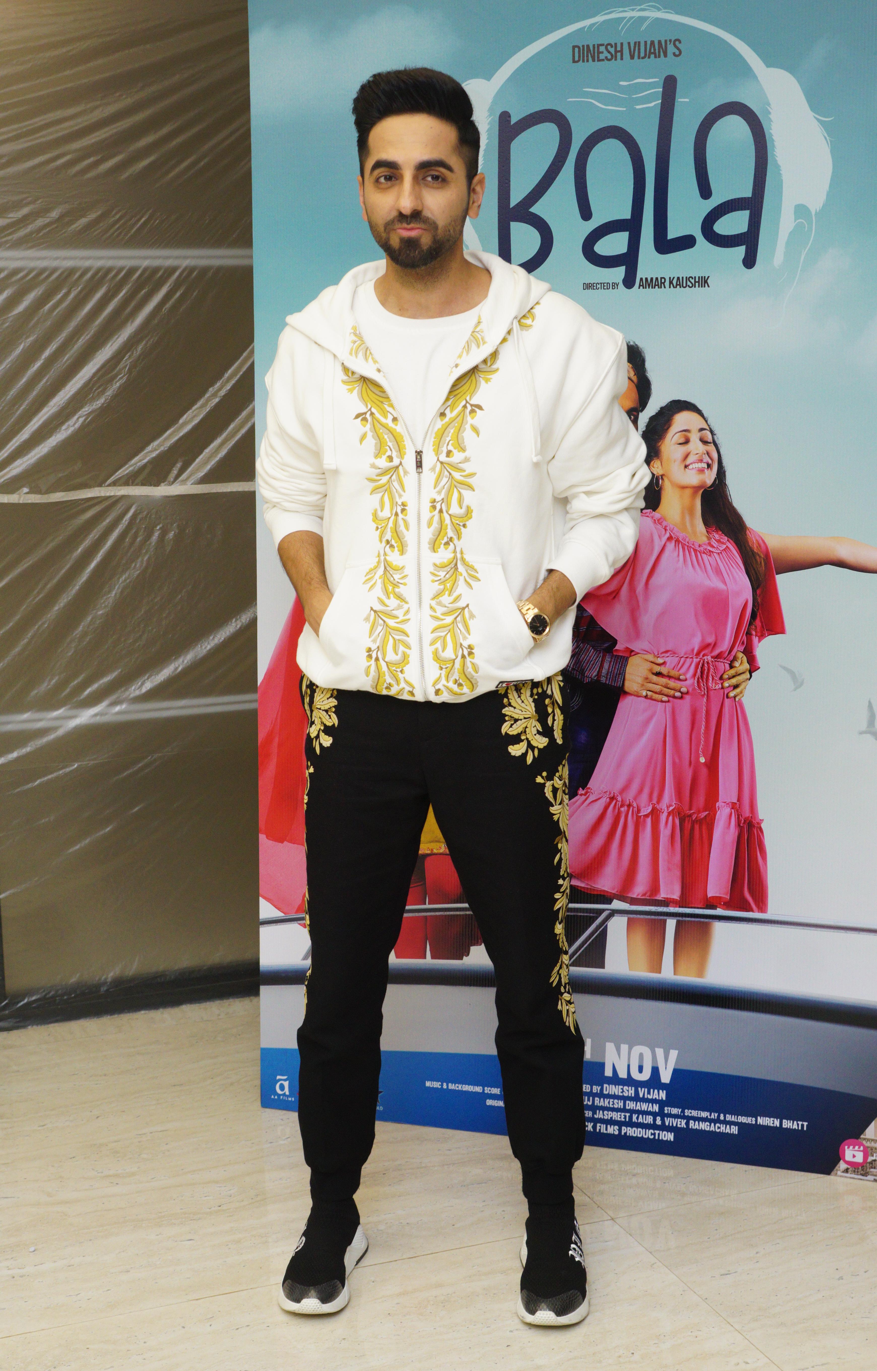 Ayushmann Khurrana at an event for Bala (2019)
