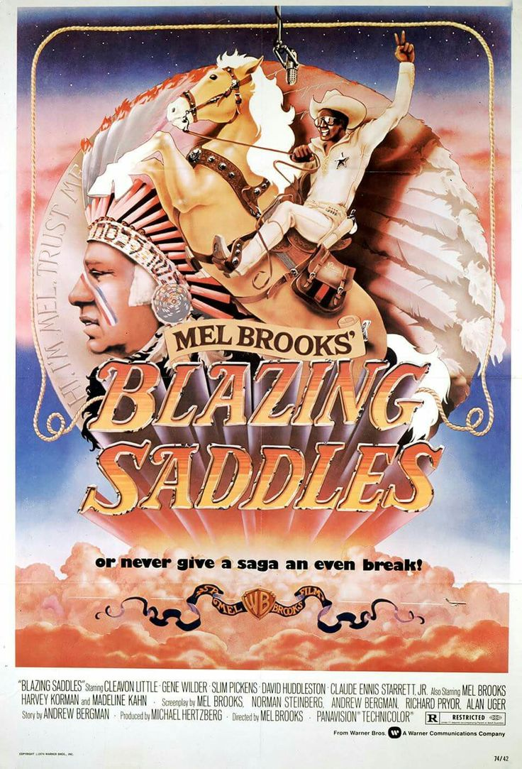 Liepsnojantys balnai / Blazing Saddles (1974) Online