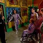 Jeff Stelling, Anita Rani, Richard Ayoade, Tom Rosenthal, Hannah Cockroft, and A.J. Pritchard in The Crystal Maze (1990)