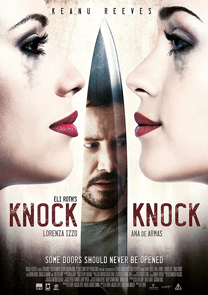 Keanu Reeves, Ana de Armas, and Lorenza Izzo in Knock Knock (2015)