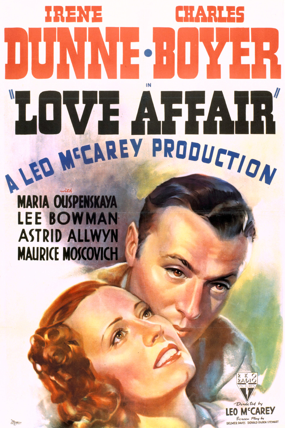 Charles Boyer and Irene Dunne in Love Affair (1939)