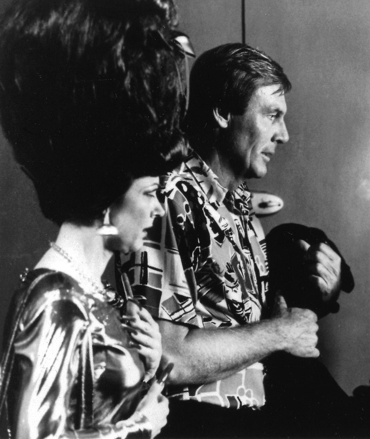 Adam West and Candice Azzara in Doin' Time on Planet Earth (1988)