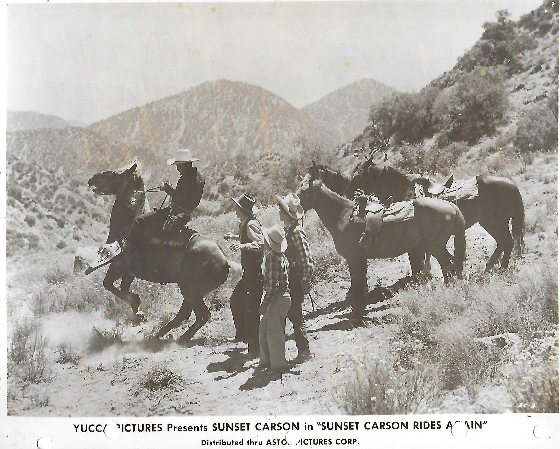 Sunset Carson, Joe Hiser, and Dan White in Sunset Carson Rides Again (1948)