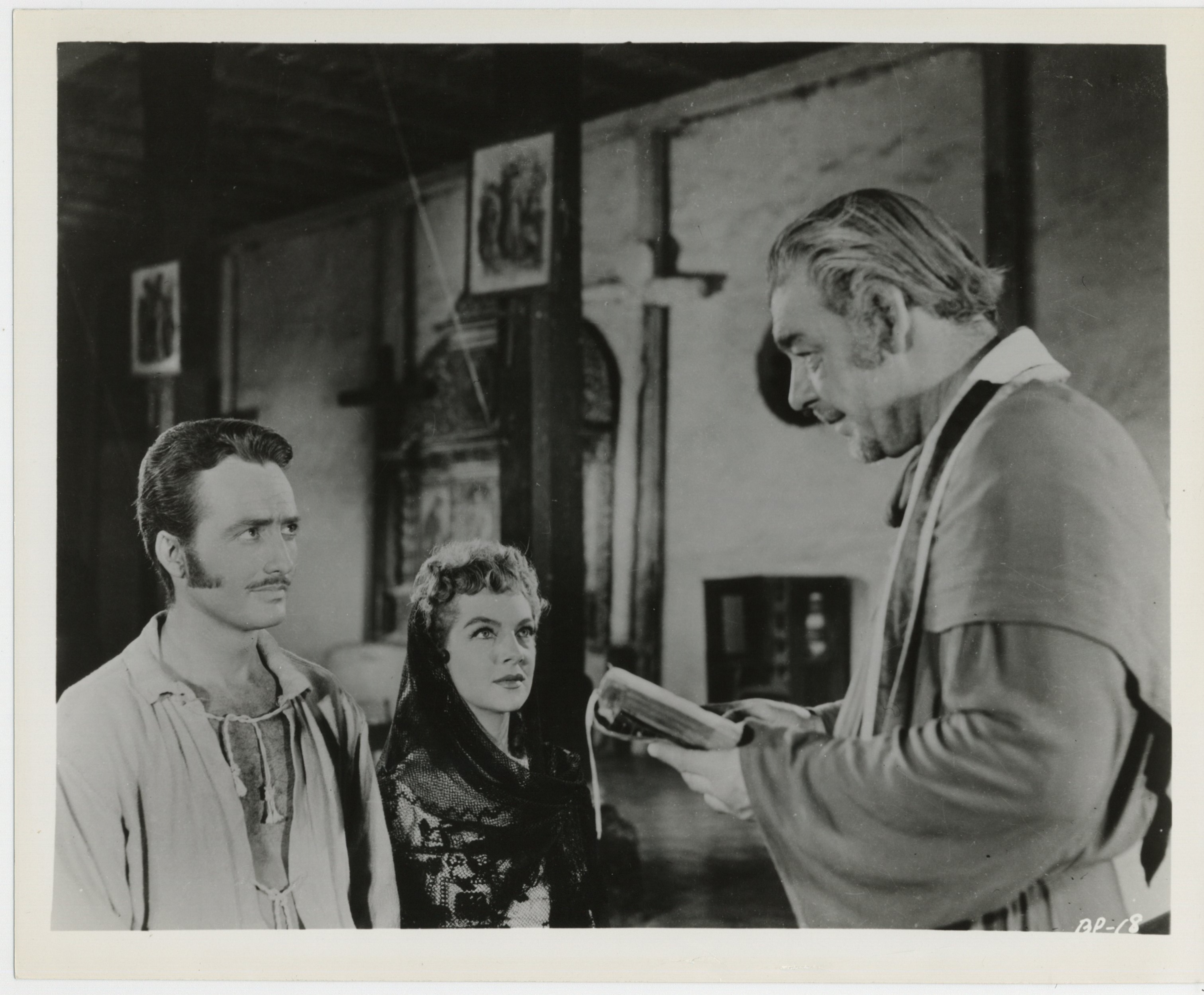 Lon Chaney Jr., Anthony Dexter, and Martha Roth in The Black Pirates (1954)