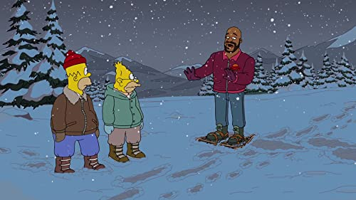 The Simpsons: Homer Runs Into Shaq In The Forest