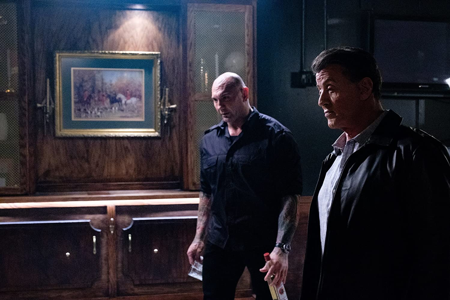 Sylvester Stallone and Dave Bautista in Escape Plan 2: Hades (2018)