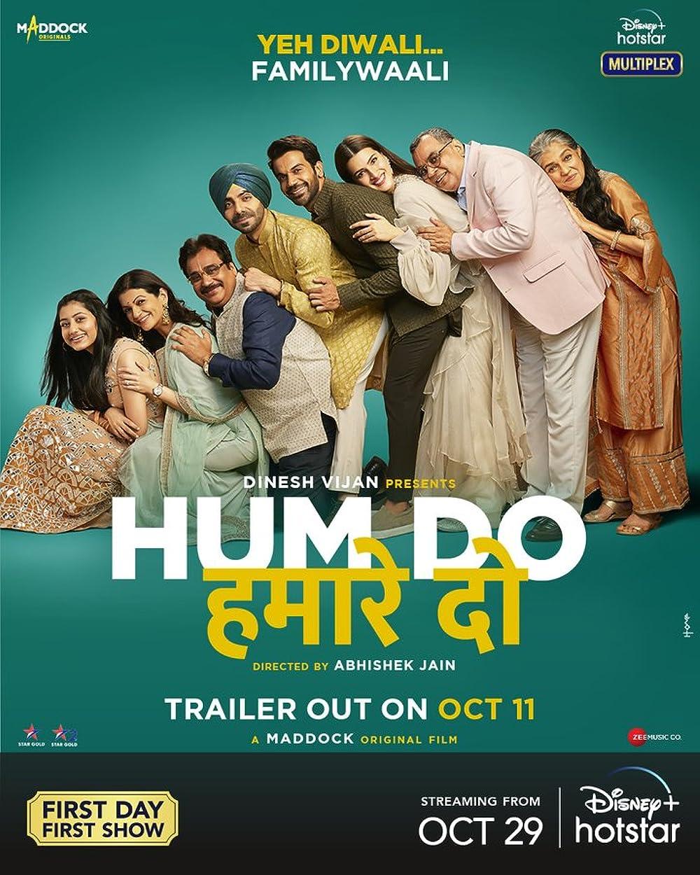 Hum Do Hamare Do 2021 Hindi Movie Official Trailer 1080p HDRip