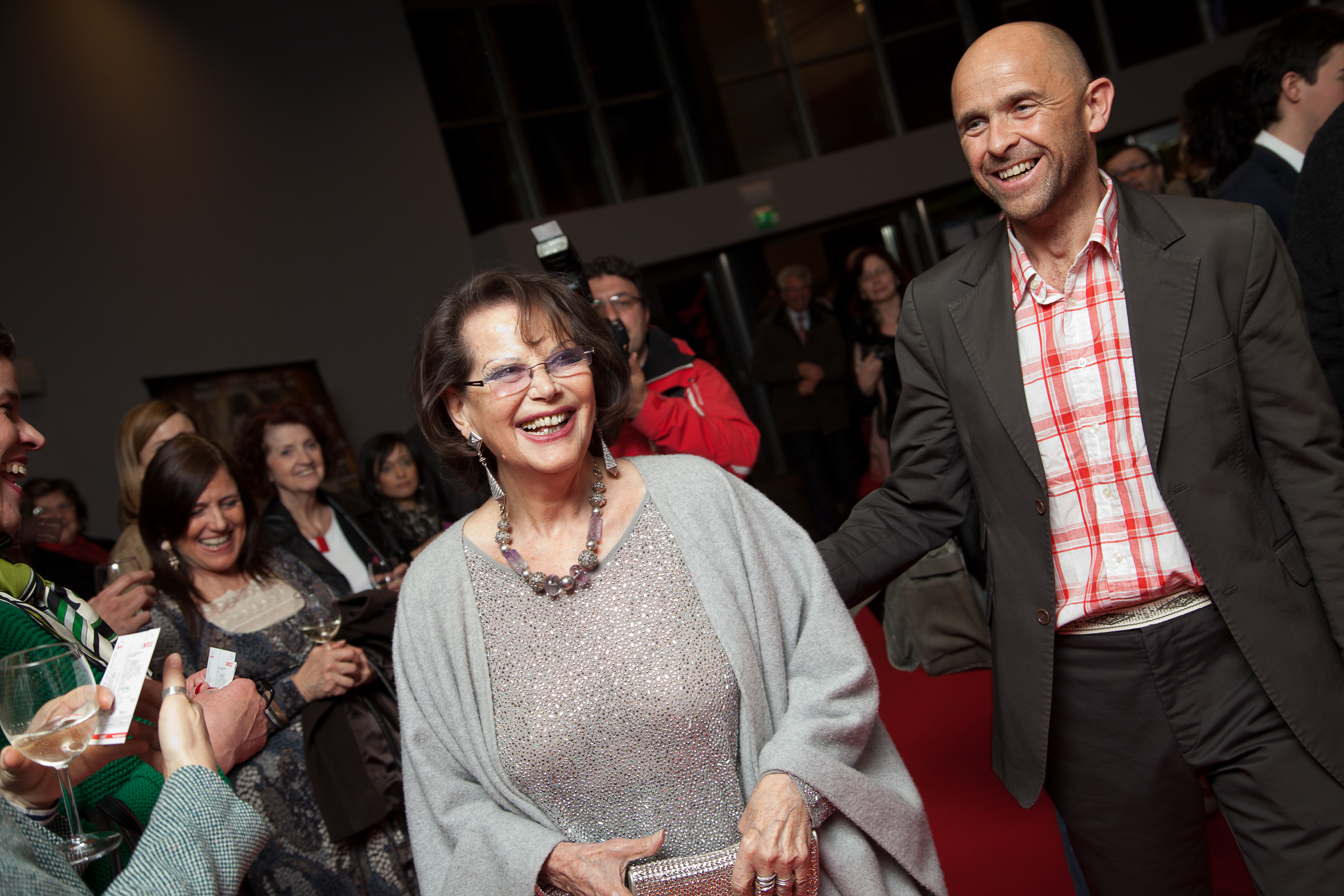 Claudia Cardinale and Ernst Gossner at The Silent Mountain world premiere