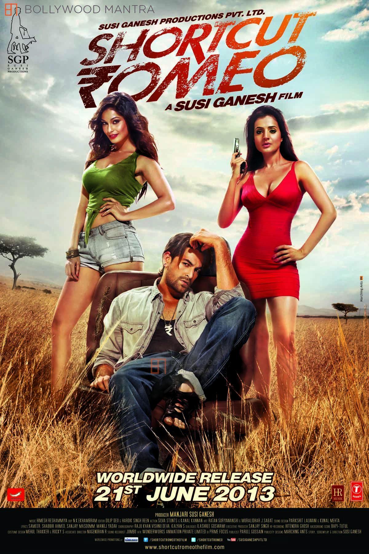 Ameesha Patel, Puja Gupta, and Neil Nitin Mukesh in Shortcut Romeo (2013)