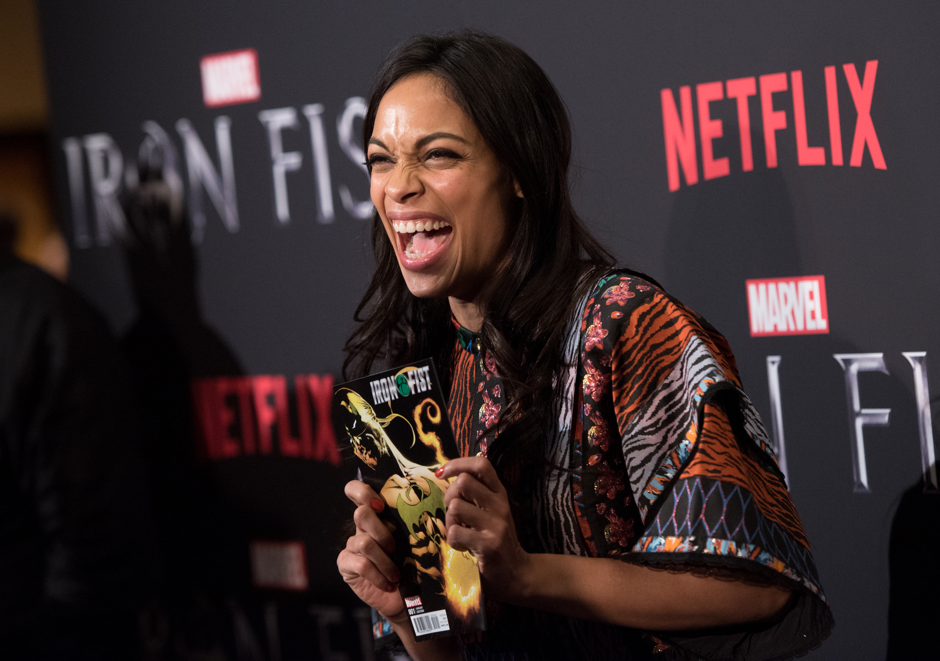 Rosario Dawson at an event for Iron Fist (2017)