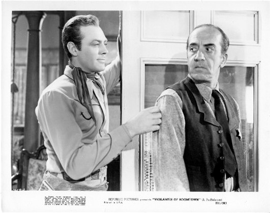 Ted Adams and Allan Lane in Vigilantes of Boomtown (1947)