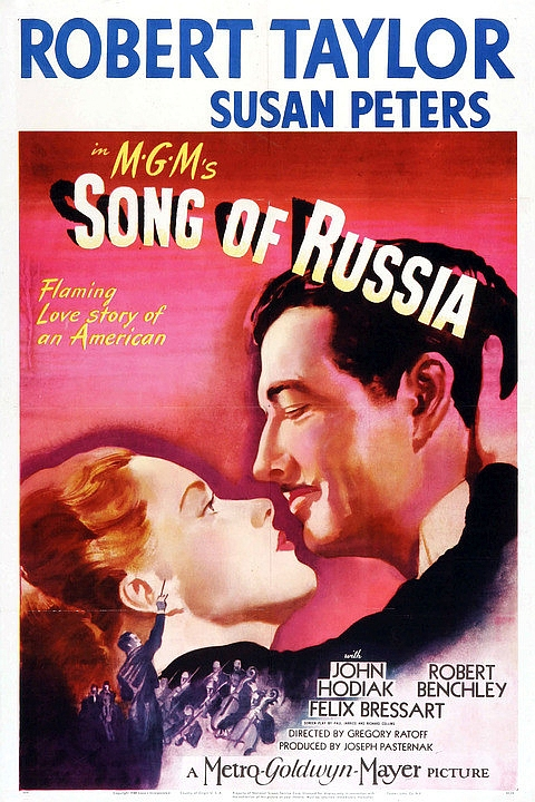 Robert Taylor and Susan Peters in Song of Russia (1944)