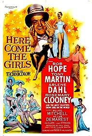 Bob Hope, Arlene Dahl, Rosemary Clooney, and Tony Martin in Here Come the Girls (1953)