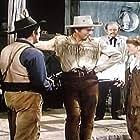 Maureen O'Hara, Parley Baer, Macdonald Carey, and Ian MacDonald in Comanche Territory (1950)